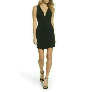 Plunging Jersey Mini Dress